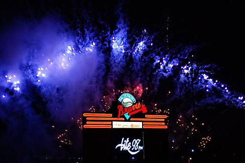 Braves-Fireworks