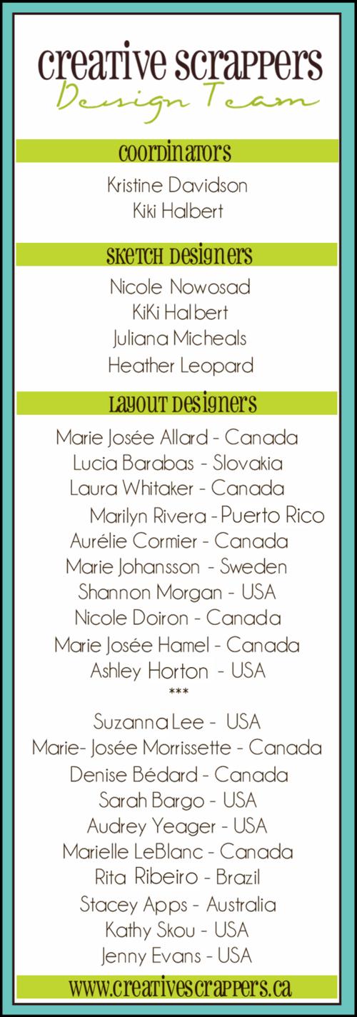 Designteamlist